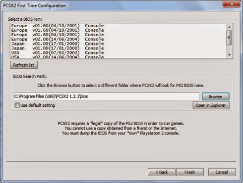 PS2 BIOS files All-in-One package for PCSX2 emulator 2015