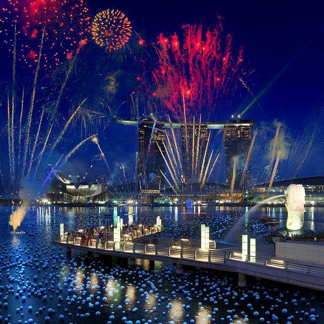 New Year Countdown in Singapore