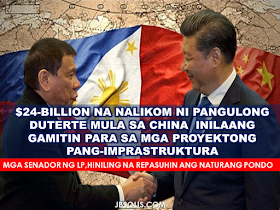 President Duterte's state visit to China  gained not only a good relationship and greater confidence among the two countries but also secured $24 Billion investment and credit pledges $15 Billion of which are going to be used for infrastructure projects in the Philippines.The deals secured by President Duterte's state visit is expected to beef up the investment and trade levels between both countries.  According to trade secretary Ramon Lopez,the renewed friendships in this part of the world have opened huge opportunities's trade and investment in China and Asean market over 1.9 billion people. Lopez also disclosed that the $15 billion worth of investment projects were as follows;     Image result for China Railway Engineering Corp.  1.Railway project (study) by MVP Global Infrastructure group and China Railway Engineering Corp.  Image result for china sino hydroImage result for Zonarsystems 2.Nationwide island provinces link bridges by Zonar Systems and PowerChina Sino Hydro    Image result for china sino hydro 3.Ambal Simuay sub-river basin flood control project by One Whitebeach Land Development and Sino Hydro;    4.Pasig River, Marikina River and Manggahan Floodway bridges construction project by Zonar Construct and SinoHydro  Image result for Greenergy.  Image result for Power China Guizhou Engineering Corp. 5. 300MW Pulangi-5 Hydro Project by Greenergy Co. and Power China Guizhou Engineering Corp.   Image result for banana plantation 6. Banana plantation project by AVLB Asia Pacific and Shanghai Xinwo Agriculture Development Co.  Image result for Zhuhai Bus and Coach Co 7.Bus manufacturing facility by Zhuhai Bus and Coach Co   Image result for hybrid rice field 8.Hybrid rice production by SL Agritech and Jiangsu Hongqi Seed Inc.  Image result for Yangtse Motor 9.Manila EDSA Bus Transportation program by Phil State Group and Yangtse Motor group and Minmetals International   Image result for Suli Grp Ltd. 10.Cabling manufacturing facilities by MVP Global Infrast