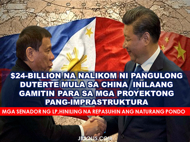 "President Duterte's state visit to China  gained not only a good relationship and greater confidence among the two countries but also secured $24 Billion investment and credit pledges $15 Billion of which are going to be used for infrastructure projects in the Philippines.The deals secured by President Duterte's state visit is expected to beef up the investment and trade levels between both countries.  According to trade secretary Ramon Lopez,the renewed friendships in this part of the world have opened huge opportunities's trade and investment in China and Asean market over 1.9 billion people. Lopez also disclosed that the $15 billion worth of investment projects were as follows;     Image result for China Railway Engineering Corp.  1.Railway project (study) by MVP Global Infrastructure group and China Railway Engineering Corp.  Image result for china sino hydroImage result for Zonarsystems 2.Nationwide island provinces link bridges by Zonar Systems and PowerChina Sino Hydro    Image result for china sino hydro 3.Ambal Simuay sub-river basin flood control project by One Whitebeach Land Development and Sino Hydro;    4.Pasig River, Marikina River and Manggahan Floodway bridges construction project by Zonar Construct and SinoHydro  Image result for Greenergy.  Image result for Power China Guizhou Engineering Corp. 5. 300MW Pulangi-5 Hydro Project by Greenergy Co. and Power China Guizhou Engineering Corp.   Image result for banana plantation 6. Banana plantation project by AVLB Asia Pacific and Shanghai Xinwo Agriculture Development Co.  Image result for Zhuhai Bus and Coach Co 7.Bus manufacturing facility by Zhuhai Bus and Coach Co   Image result for hybrid rice field 8.Hybrid rice production by SL Agritech and Jiangsu Hongqi Seed Inc.  Image result for Yangtse Motor 9.Manila EDSA Bus Transportation program by Phil State Group and Yangtse Motor group and Minmetals International   Image result for Suli Grp Ltd. 10.Cabling manufacturing facilities by MVP Global Infrastructure Group and Suli Grp Ltd. Image result for CCCC Dredging Company 11.Cebu International and Bulk Terminal project by Mega Harbour Port and CCCC Dredging Company   Image result for China Harbour Engineering 12.Manila Harbour Center reclamation by R-II Builders Inc. and China Harbour Engineering    13.Davao coastline and port development project by Mega Harbor Port and Development and China Harbour Engineering;    Image result for Xinjiang TBEA Sunoasis Image result for Xinjiang TBEA Sunoasis 14.Renewable energy projects by Xinjiang TBEA Sun Oasis    Image result for Global Ferronickel 15.Joint venture on steel plants by Global Ferronickel and Baiyin International     Image result for SIIC Shanghai International Trade HK; 16.New Generation Steel Manufacturing Plant by Mannage Resources and SIIC Shanghai International Trade HK;      Image result for China CAMC Engineering 17.Joint development project on renewable energy by Columbus Capitana and China CAMC Engineering     Image result for Hotel of Asia Inc. 18.Jin Jiang hotel room capacity expansion from 1,000 to 2,000 by Double Dragon Properties and Hotel of Asia Inc.        Image result for globe telecom 19.Globe Telecom projects to improve network quality and capacity      Image result for Wuxi Huaguang Electric Power Engineering 20.North Negros biomass and South Negros biomass project by North Negros Biopower and Wuxi Huaguang Electric Power Engineering      Image result for Jimei Group of China Joint venture agreement of Jimei Group of China and Expedition Construction Corp. for infrastructure projects    21.Transportation and logistics infrastructure at Sangley Point by Cavitex Holdings, International Container Terminal Services Inc. and China Harbour Engineering    22.Safe and smart city projects for BCDA by BCDA and Huawei Technologie   23.BCDA-China Fortune Land Real Estate project (memorandum of understanding);    24.Bonifacio Global City-Ninoy Aquino International Airport Segment of Metro Manila Bus Rapid Transit-EDSA project by BCDA and China Road and Bridge Corp.   25.Subic-Clark railway project by Bases Conversion and Development Authority (BCDA) and China Harbour Engineering Co.    These investment agreements are expected to generate 2 million jobs for Filipinos within the next 5 years that can possibly reduce the number of unemployment in the country.  Financial facilities worth a total of $9 Billion would come from China State and Bank of China,according to Lopez.    ""For China alone, they continue to be the Philippines' second major trading partner with $17 billion value in total trade. Our exports to China were $6 billion in 2015 but this still has high growth potential as we establish better relations and considering China's total imports was around $2 trillion in 2015. Another promising area again is investment from China. Their investment to the Philippines dropped to only $32 million in 2015. But China's total outward investments was around $130 billion in 2015,"" the trade chief said.   Meanwhile,Senators from the Liberal Party (LP) want the Senate to review the deals with China entered into by President Duterte, including the billions of dollars in aid to be extended by China and the joint coast guard cooperation activities in the disputed West Philippine Sea.  LP Senators Paolo Benigno Aquino IV, Leila de Lima, Franklin Drilon and Francisco Pangilinan said so much is at stake in Duterte's declared pivot to China and Russia, including the Philippine claim over disputed waters, its trade with other countries and the welfare of overseas Filipino workers.  The senators called for immediate action on Senate Resolution 158 filed by Aquino calling on the Senate committees on foreign relations and economic affairs to conduct a hearing, in aid of legislation, on the foreign policy direction of the government. The hearing should reveal the terms of the 13 agreements and memoranda of understanding, including the reported $6 billion in soft loans, $3 billion in credit facilities through private Chinese banks, and the Joint Coastal Guard Committee on Maritime Cooperation in disputed waters, signed during Duterte's state visit in Beijing. ""We are in agreement that the Philippines needs an independent foreign policy, one that protects and champions the interests of the Filipino people, one that is not pro-American and not pro-China but pro-Filipino, ensuring that the conventions and agreements we sign will benefit Filipino citizens,""  ""The Filipino people deserve to know what the official position of the administration is and how this affects the lives of our countrymen residing in all corners of the globe,"" the senators said in a joint statement. Sen. Risa Hontiveros asked Duterte to be judicious in his statements even as she appreciated his attempts to clarify his pronouncements. Pangilinan said the confusion of Duterte's ""conflicting"" statements adversely affects public confidence in the nation's state of affairs and creates uncertainty unnecessarily. For Sen. Richard Gordon, Duterte is clever and unorthodox in his foreign policy. ""He (Duterte) obviously made other world leaders listen and make things happen,"" Gordon said.  (SOURCES:Philstar, INQUIRER.PH)                    RECOMMENDED POSTS:  CRIMES PUNISHABLE BY DEATH IN SAUDI ARABIA AND ITS EQUIVALENT SENTENCE UNDER PHIL LAW   DON'T DO THESE THINGS WHILE IN SAUDI ARABIA    DUTERTE ACCOMPLISHMENTS IN 100 DAYS     BRAND NEW PATROL SHIP FROM JAPAN STARTED OPERATION    BEING BUSY DOESN'T GUARANTEE PRODUCTIVITY      DRUG LORD KERWIN ESPINOSA ARRESTED IN UAE ©2016 THOUGHTSKOTO"