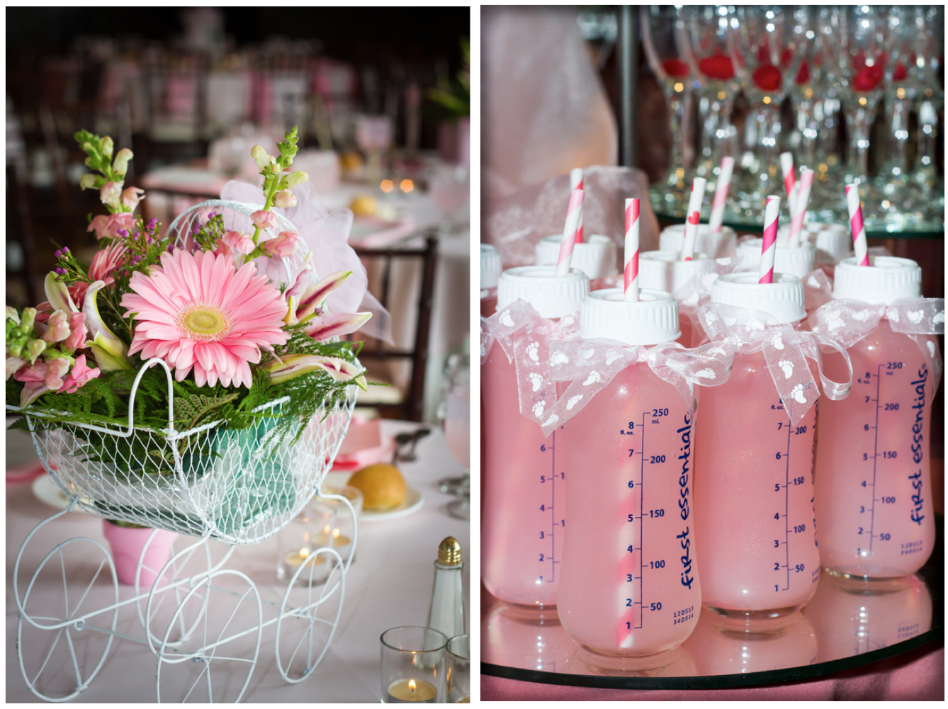 Girl Baby Shower Table Decorations