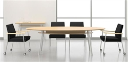 Mystic Series 8' Elliptical Conference Table with Metal Legs