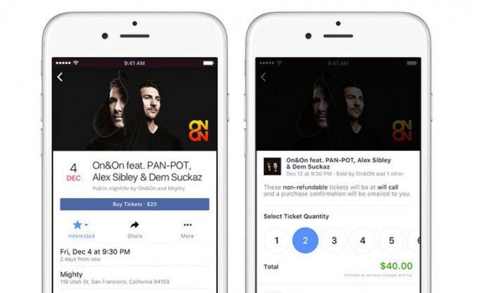 Facebook venderá entradas para conciertos