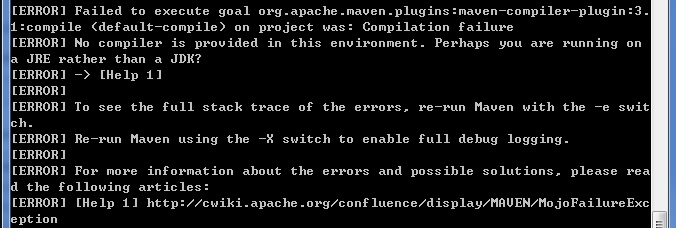 Failed to execute goal org.apache.maven.plugins