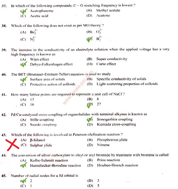 Junior Chemist - Mining Psc question (5)