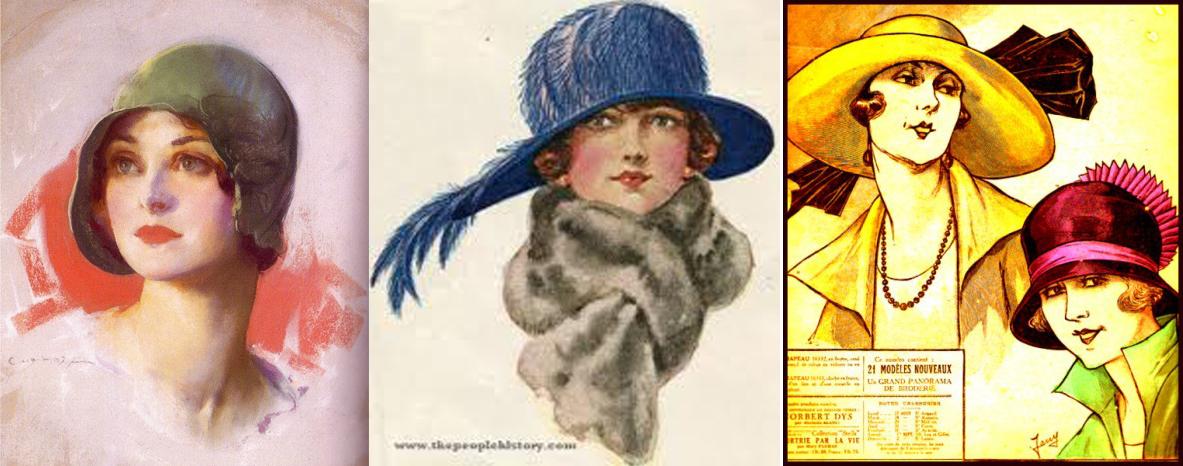 Ve třicátých letech najdeme po většině !malé kloboučky 5106c54542