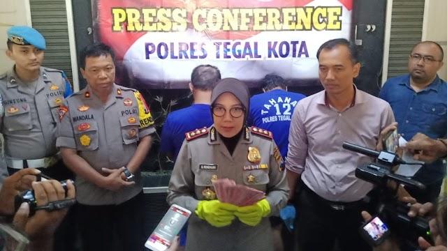 Aktifitas Pengedar Uang Palsu di Tegal yang Meresahkan Berakhir Ditangan Polisi