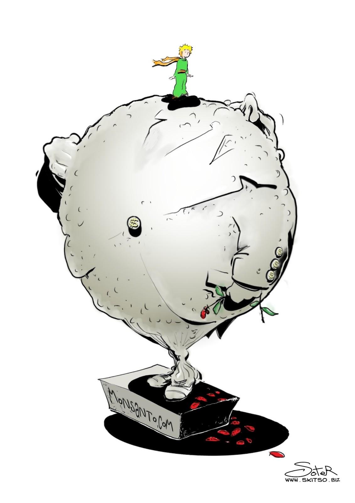 Σκίτσα από την συμμετοχή μου στην Διεθνή Έκθεση Γελοιογραφίας στον Υμηττό με θέμα:  «Η Διατροφή μας είναι η ζωή μας. Μεταλλαγμένα – Μόλυνση περιβάλλοντος – Ασφάλεια Τροφίμων (Codex Alimentarius)» monsanto μεταλαγμένα
