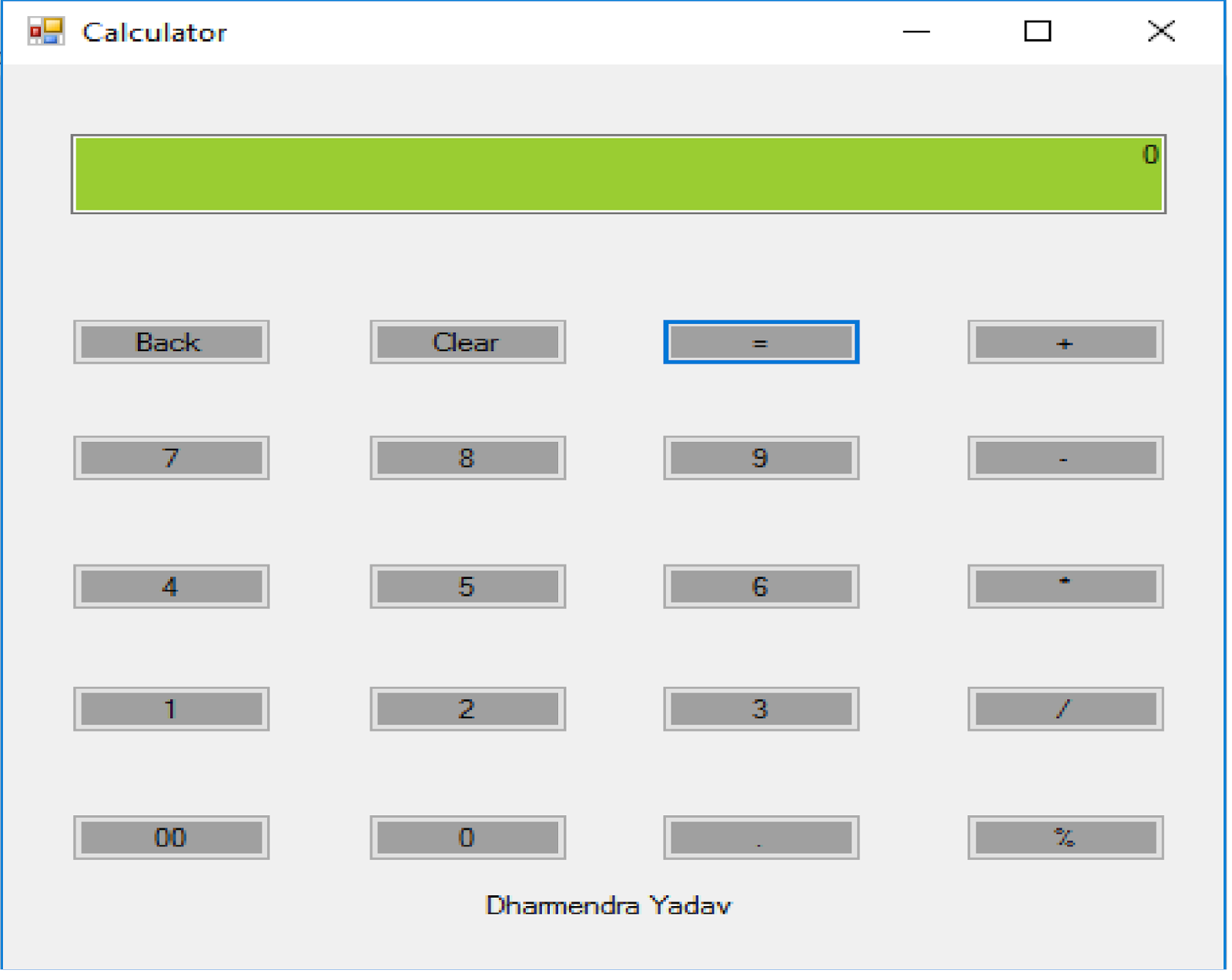 Programmer solution: Step By Step Calculator Creating using C# - photo#9