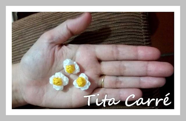 Mini Flores em crochet