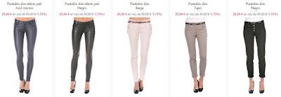 pantalones baratos para mujer