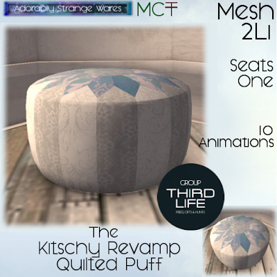 ADORABLY STRANGE WARE - KITSCHY REVAMP PUFF / TL EXCLUSIVE GIFT
