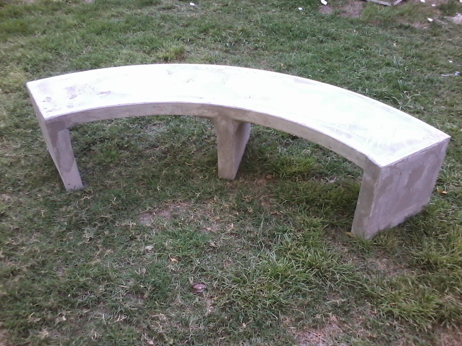 Muebles en cemento light estilo ribera - Bancos de cemento ...