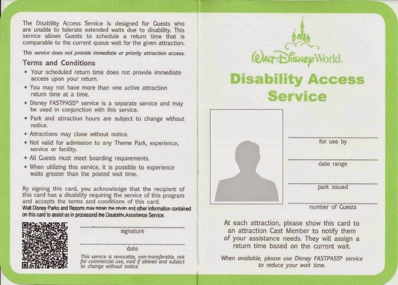 Image result for disney das card