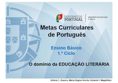 Metas Curriculares de Português - 1.º ciclo
