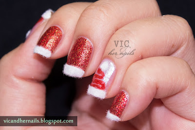 vic and her nails december nail  theme 4 festive