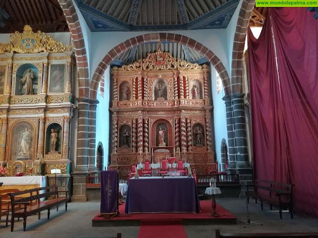 El Cabildo restaura dos retablos barrocos de la iglesia de San Juan, en Puntallana