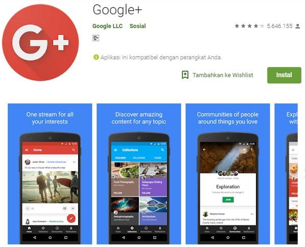 Aplikasi Google Pluas Untuk Ngeblog