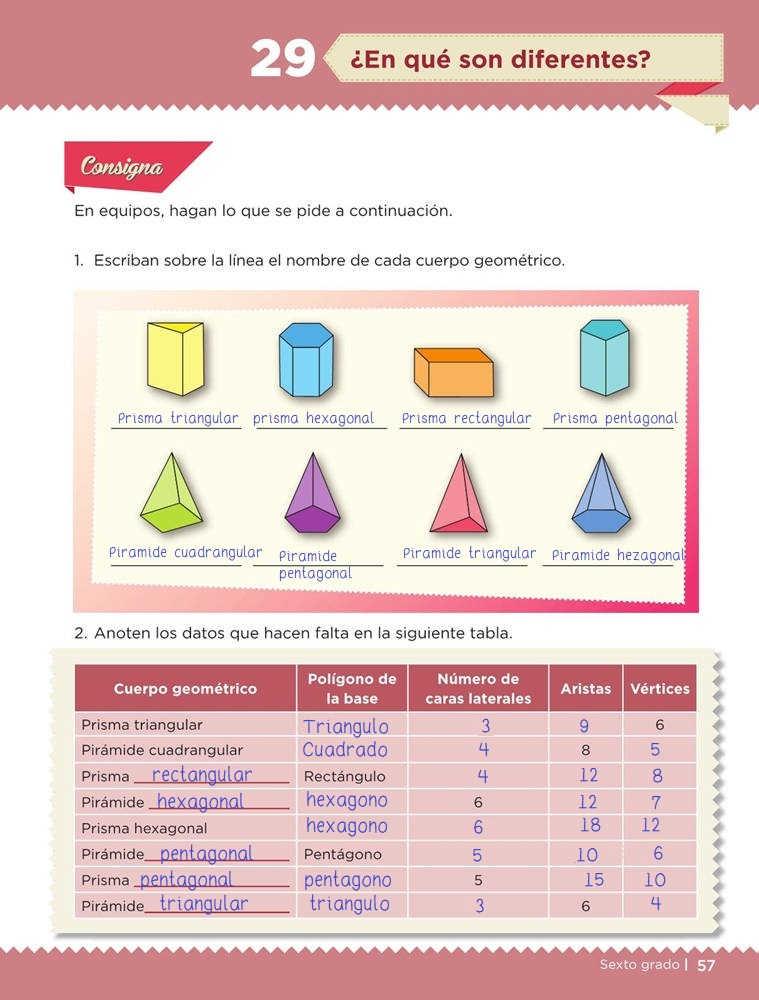 Libro de textoDesafíos Matemáticos¿En qué son diferentes?Sexto gradoContestado