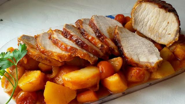 lomo-al-horno-con-ketchup