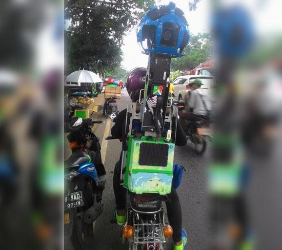 Foto Motor Antik Google di Indonesia Untuk Google Street View Mendadak Viral