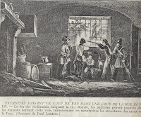 Belgische patriotten in een kelder in de Koningstraat openen het vuur.