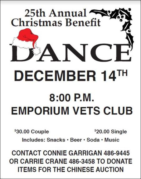 12-14 Christmas Dance, Emporium Vets Club