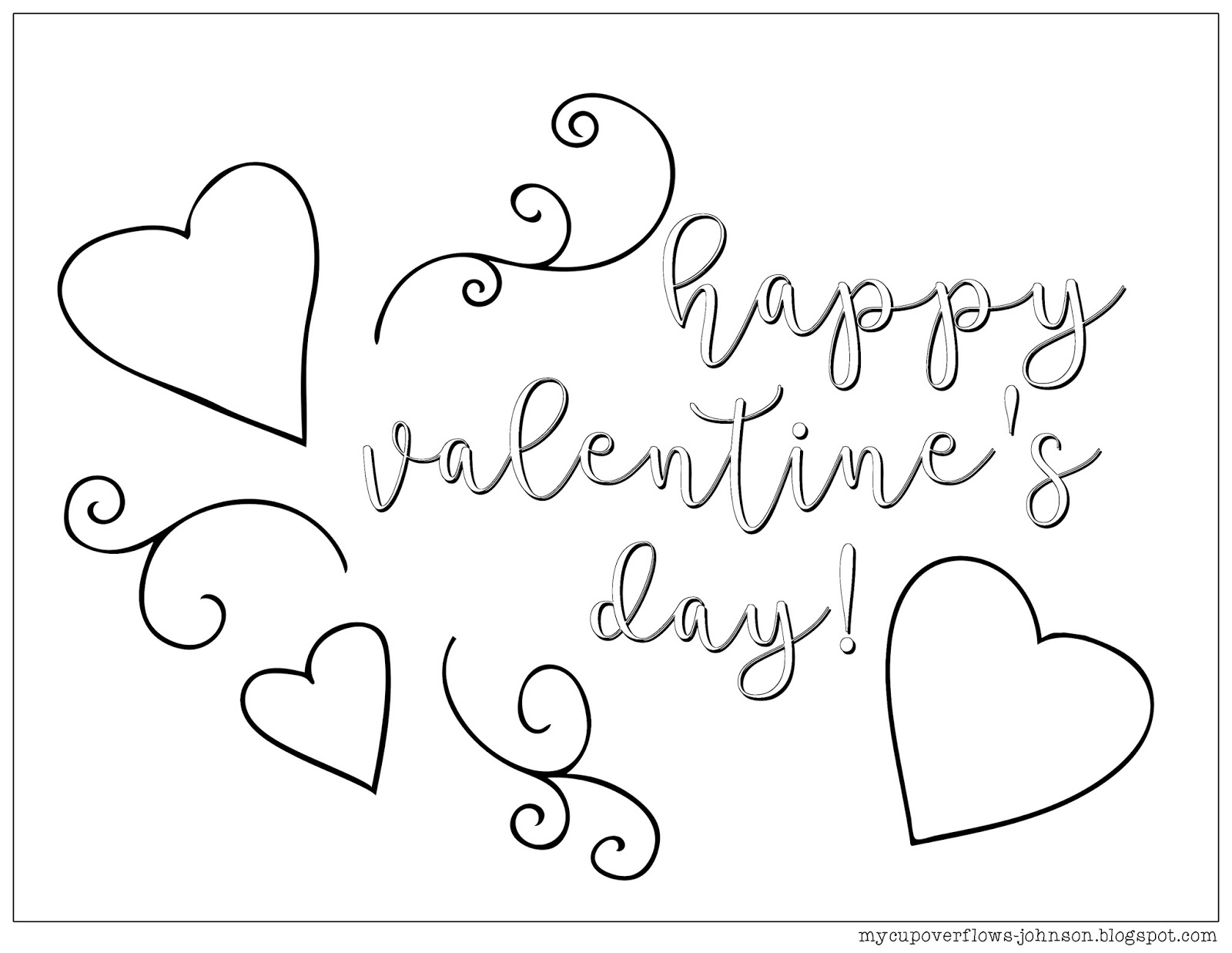 my cup overflows  coloring pages for valentine u0026 39 s day