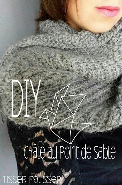 tisser p tisser diy tricoter un ch le au point de sable. Black Bedroom Furniture Sets. Home Design Ideas