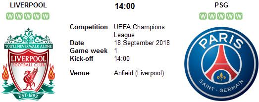 Liverpool vs PSG en VIVO