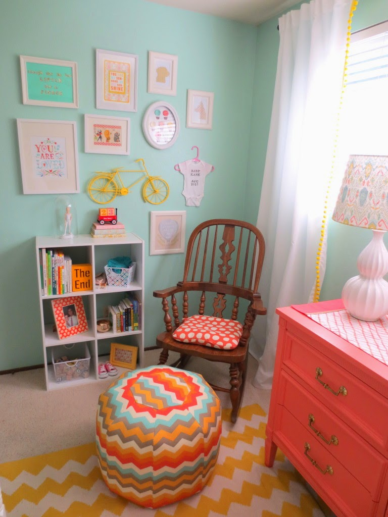 bright and colorful girl room