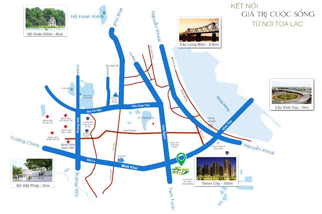 Vị trí dự án Green Pearl Minh Khai