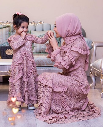 Model Kebaya Muslim Couple Ibu Dan Anak