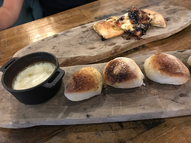 ZiZi's dough balls and caramelised onion bread