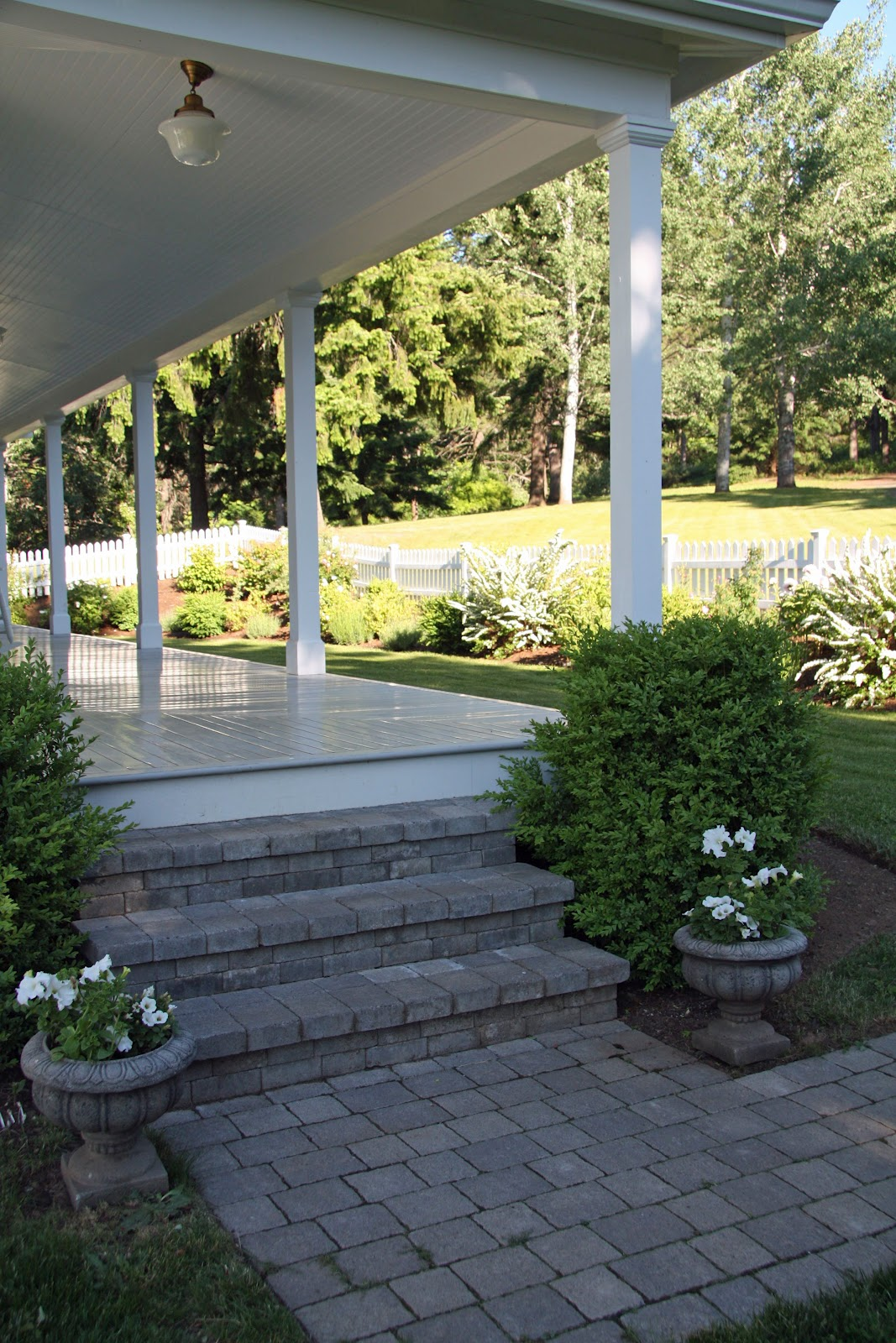 Porch Steps: In The Fields : Our Front Steps And Walkway