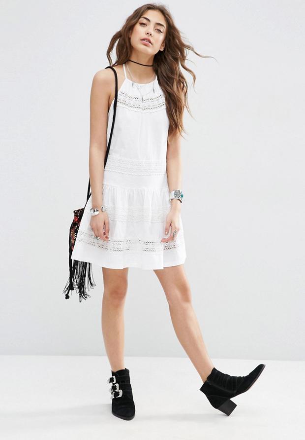 Vestido de verano blanco de asos