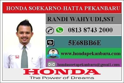 Paket Kredit Honda BRV Pekanbaru Riau Januari 2017