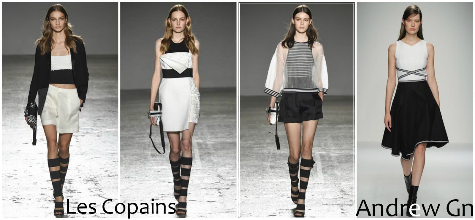 Les Copains Andrew Gn runway fashion