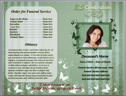 Funeral Template Download. 21 Funeral Bookmark Templates Free
