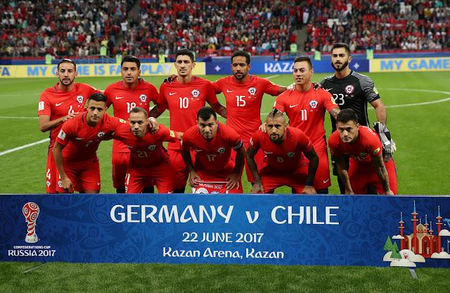 Formación de Chile ante Alemania, Copa Confederaciones 2017, 18 de junio
