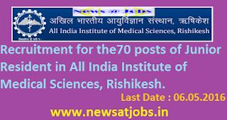 aiims+rishikesh+recruitment+2016