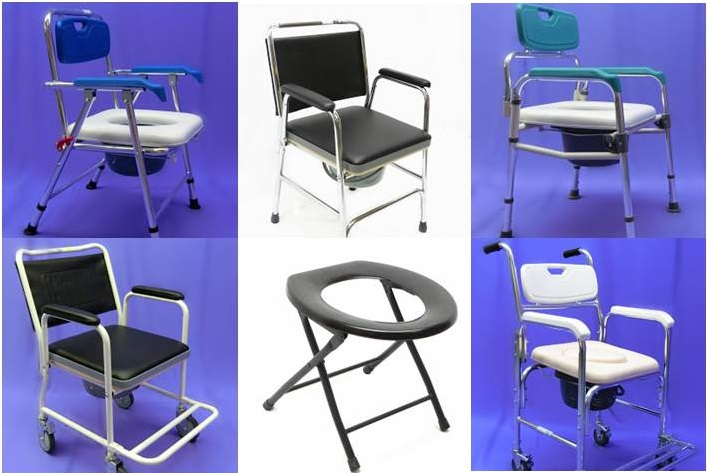 Foldable Commode Chair With Soft Seat Malaysia Penang
