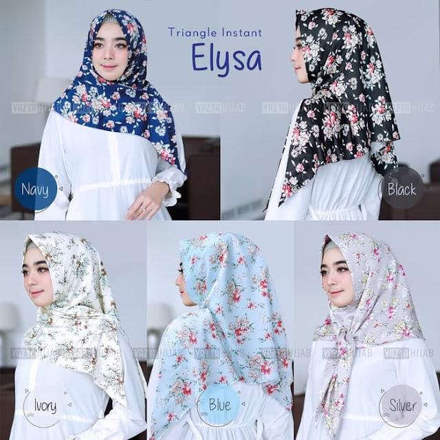 Hijab Kerudung Segitiga Instan ELYSA Terbaru Lengkap