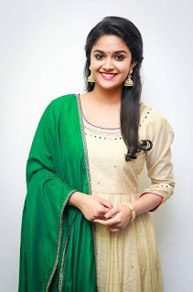 Keerthy Suresh in Wheat Color Dress with Cute and Lovely Smile 5