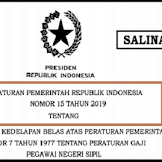 Peraturan Pemerintah Nomor 15 Tahun 2019 Tentang Gajih Pokok PNS