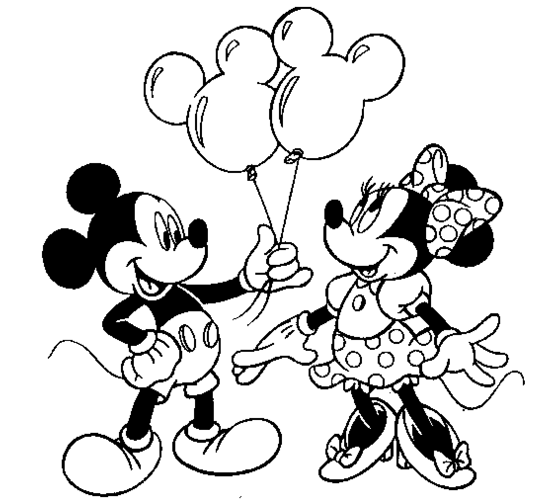 Colour Drawing Free Hd Wallpapers Mickey Mouse And Minnie