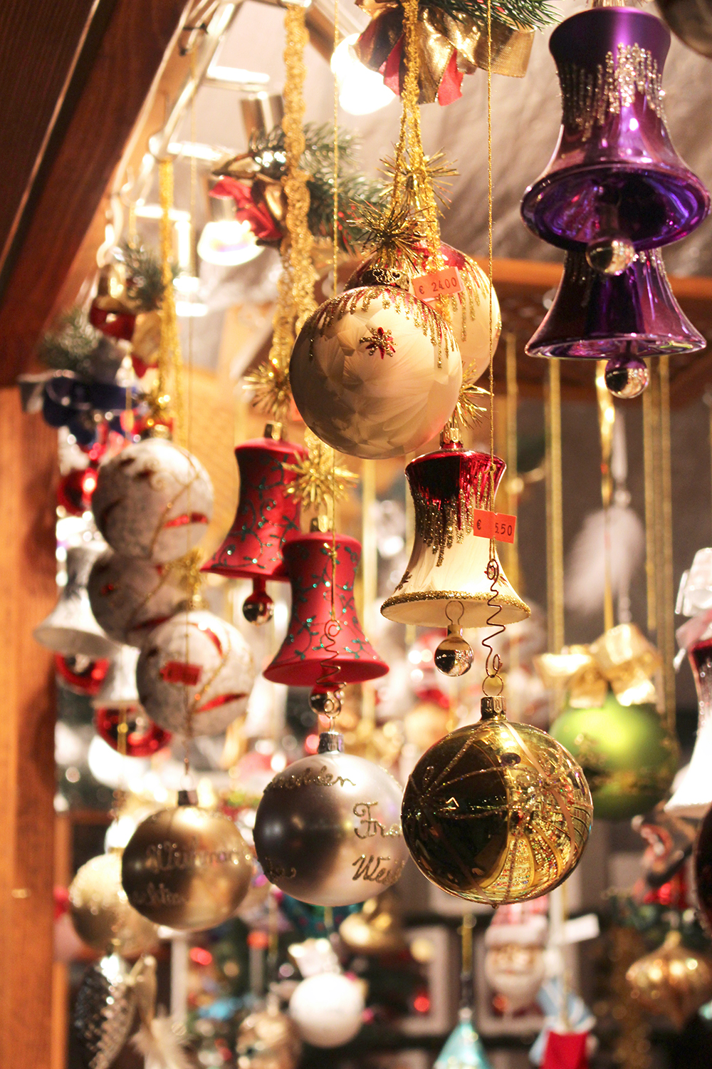Glass baubles at the Christmas markets in Berlin - travel & lifestyle blog