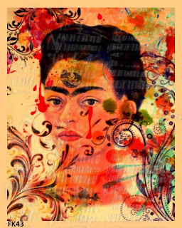 frida kahlo botanical fabric