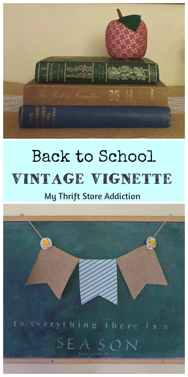 back to school vintage vignette
