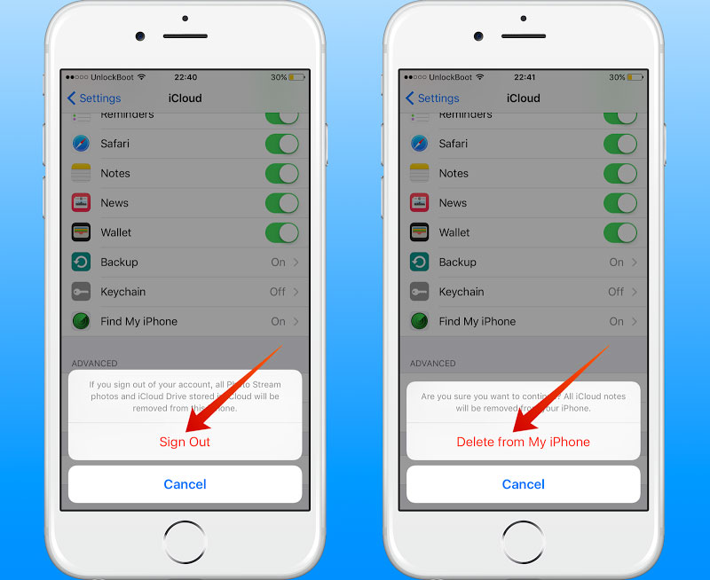 delete all contact on iphone